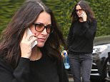 29.March.2016 - Beverly Hills- USA\n***AVAILABLE FOR UK AND GERMANY SALE ONLY ***\n*EXCLUSIVE ALL ROUND PICTURES* \n Courteney Cox ends a visit at Epione Dermatology Clinic in Beverly Hills. Courteney chatted on her phone and covered her face as she waited for her car to pull up at the valet following her appointment.\nBYLINE MUST READ: AKM-GSI-XPOSURE\n***UK CLIENTS - PICTURES CONTAINING CHILDREN PLEASE PIXELATE FACE PRIOR TO PUBLICATION ***\n*UK CLIENTS MUST CALL PRIOR TO TV OR ONLINE USAGE PLEASE TELEPHONE 0208 344 2007*