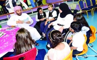 مركز العين للرعاية والتأهيل ينظم مخيم القراءة
