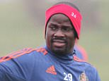 FILE - March 31, 2016: Sunderland player Emmanuel Eboue has been handed a one year suspension from all football-related activity by FIFA, unless he pays the money he owes to a former agent. SUNDERLAND, UNITED KINGDOM - MARCH 15: Emmanuel Eboue during a Sunderland training session at the Academy of Light on March 15, 2016 in Sunderland, England. (Photo by Ian Horrocks/Sunderland AFC via Getty Images)