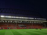 LIVERPOOL, ENGLAND - OCTOBER 22:  A general view of Anfield Stadium with the new stand being constructed behind the main stand prior to the UEFA Europa League match between Liverpool and Rubin Kazan at Anfield on October 22, 2015 in Liverpool, United Kingdom.  (Photo by Matthew Ashton - AMA/Getty Images)
