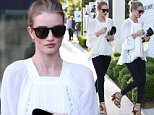 West Hollywood, CA - Rosie Huntington-Whiteley goes for dinner at Gracias Madre in Weho. The 28-year-old model is wearing skinny jeans paired with a boho white top and lace up fringe heels that are perfect for Spring.     AKM-GSI       March 30, 2016 To License These Photos, Please Contact : Steve Ginsburg (310) 505-8447 (323) 423-9397 steve@akmgsi.com sales@akmgsi.com or Maria Buda (917) 242-1505 mbuda@akmgsi.com ginsburgspalyinc@gmail.com