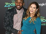 """HOLLYWOOD, CA - FEBRUARY 17:  Dancer Allison Holker (R) and her husband attends the Premiere of Walt Disney Animation Studios' """"Zootopia"""" at the El Capitan Theatre on February 17, 2016 in Hollywood, California.  (Photo by Frederick M. Brown/Getty Images)"""