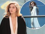EXCLUSIVE: Gigi Hadid spotted doing a photo shoot in Midtown, New York.  Pictured: Gigi Hadid Ref: SPL1254094  300316   EXCLUSIVE Picture by: NIGNY / Splash News  Splash News and Pictures Los Angeles: 310-821-2666 New York: 212-619-2666 London: 870-934-2666 photodesk@splashnews.com