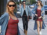 Picture Shows: Lily Aldridge, Behati Prinsloo  March 30, 2016    Models Lily Aldridge and pregnant Behati Prinsloo spotted out shopping in West Hollywood, California. The pair met up with fellow model/actress Rosie Huntington-Whiteley for lunch. Behati is expecting her first child with husband Adam Levine but her baby bump is barely showing.    Non-Exclusive  UK RIGHTS ONLY    Pictures by : FameFlynet UK � 2016  Tel : +44 (0)20 3551 5049  Email : info@fameflynet.uk.com