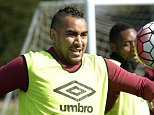 LONDON, ENGLAND - MARCH 31:  Dimitri Payet of West Ham United in action during training at Chadwell Heath on March 31, 2016 in London, England.  (Photo by Avril Husband/West Ham United via Getty Images)