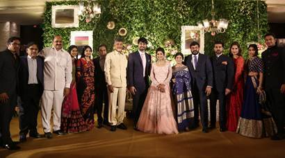 Chiranjeevi's daughter Sreeja's wedding reception pics: A listers in attendance