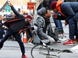 Picture Shows: Will Smith  March 31, 2016\n \n Will Smith and Jacob Lattimore film an intense scene for 'Collateral Beauty' in New York City, New York. \n \n Non-Exclusive\n UK RIGHTS ONLY\n \n Pictures by : FameFlynet UK © 2016\n Tel : +44 (0)20 3551 5049\n Email : info@fameflynet.uk.com