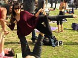 My friends and I are here to remind you that you are never too old, too busy, too serious, too anything to play--even just a little ??. Loved hanging out with all of you in the park the other day...you made me laugh so much ??????. Anyone reading this: come play with me today @yogavidanyc if you are around! #366daysoflivingclearly #HilariaLCM click on the pic for the info of these amazing yogis and teachers. They taught me so much the other day! I was DEFINITELY the student in this group!