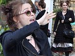 March 31, 2016: March 31, 2016  Helena Bonham Carter walks though the set of Five Seconds Of Silence and clearly recognises members of the crew as she stops and has a chat.  Non Exclusive Worldwide Rights Pictures by : FameFlynet UK © 2016 Tel : +44 (0)20 3551 5049 Email : info@fameflynet.uk.com
