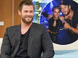 """EDITORIAL USE ONLY. NO MERCHANDISING. IN US EXCLUSIVE RATES APPLY\nMandatory Credit: Photo by Ken McKay/ITV/REX/Shutterstock (5621898d)\nChris Hemsworth\n'Good Morning Britain' TV show, London, Britain - 31 Mar 2016\n""""Thor'sday Challenge"""" - Ben and Chris go head to head on our GMB Hammer-striker to see who's strongest, 2014s Sexiest Man Alive and Thor himself joins us for a live studio chat about returning as Eric in the new film THE HUNTSMAN: WINTER'S WAR. Hes also about to star in the hotly anticipated Ghostbusters movie., Action star, Australian actor, THOR BLIMEY!\n"""