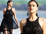 Exclusive... 52008852 Model Irina Shayk rocks several different outfits during a glamorous photo shoot on the beach in Los Angeles, California on March 30, 2016. ***NO WEB USE W/O PRIOR AGREEMENT - CALL FOR PRICING*** FameFlynet, Inc - Beverly Hills, CA, USA - +1 (310) 505-9876 RESTRICTIONS APPLY: NO GERMANY,NO FRANCE