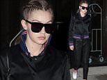 Gigi Hadid leaves her home to photo shoot in New York April 1, 2016  Pictured: Gigi Hadid Ref: SPL1255302  010416   Picture by: NIGNY / Splash News  Splash News and Pictures Los Angeles: 310-821-2666 New York: 212-619-2666 London: 870-934-2666 photodesk@splashnews.com