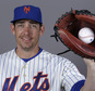 This is a Wednesday, Feb. 26, 2014 file photo of catcher Taylor Teagarden of the New York Mets baseball team. This image reflects the Mets active roster when this image was taken. Former major league catcher Taylor Teagarden, among the athletes accused of using performance-enhancing drugs in a December report by Al Jazeera, was suspended for 80 games on Friday, April 1, 2016 by Major League Baseball. (AP Photo/Jeff Roberson, File)