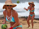 £500 PER PIC FOR UK PAPERS\nSTRICTLY NO WEB TILL 10PM 31ST MARCH 2016\nEXCLUSIVE:  **PREMIUM EXCLUSIVE RATES APPLY** bikini clad Britney Spears shows off her very toned and in shape body while throwing a ball on the beach in Hawaii.\n\nPictured: Britney Spears\nRef: SPL1253326  290316   EXCLUSIVE\nPicture by: Splash News\n\nSplash News and Pictures\nLos Angeles:310-821-2666\nNew York:212-619-2666\nLondon:870-934-2666\nphotodesk@splashnews.com\n\n