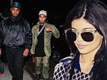 19 Nov 2015 - WEST HOLLYWOOD - USA\nKYLIE JENNER'S BEAU TYGA ARRIVES IN AN ARMY GREEN OUTFIT AND SPACE BOOTS TO 'THE NICE GUY' TO CELEBRATE HIS BIRTHDAY \nBYLINE MUST READ : TWIST / XPOSUREPHOTOS.COM\n***UK CLIENTS - PICTURES CONTAINING CHILDREN PLEASE PIXELATE FACE PRIOR TO PUBLICATION ***\n**UK CLIENTS MUST CALL PRIOR TO TV OR ONLINE USAGE PLEASE TELEPHONE  44 208 344 2007 ***
