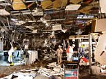 Photographs show damage inside Zaventem Airport following attacks on 22 Mar 2016 - when two explosions rock Zaventem Airport killing 14 people  / Source: http://www.nieuwsblad.be/cnt/dmf20160329_02207900?pid=5453387