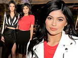 Mandatory Credit: Photo by Chelsea Lauren/WWD/REX/Shutterstock (5622262a)\nKendall Jenner and Kylie Jenner\nPrivate Dinner with Kendall and Kylie Jenner celebrating the #OnlyatNM Collection, Los Angeles, America - 31 Mar 2016\n