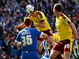 BRIGHTON, UNITED KINGDOM - APRIL 02:  Michael Keane of Burnley scores his team's second goal during the Sky Bet Championship match between Brighton & Hove Albion and Burnley at Amex Stadium on April 2, 2016 in Brighton, England.  (Photo by Dan Istitene/Getty Images)