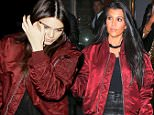 Please contact X17 before any use of these exclusive photos - x17@x17agency.com   PREMIUM EXCLUSIVE - Kourtney Kardashian got out for an evening with friends at EPLP, wearing a deep red jacket over black .  Wednesday, March 30, 2016. Jul/X17online.com