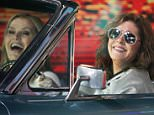 March 31, 2016: Susan Sarandon and Geena Davis at 'Good Morning America' talk about 'Thelma & Louise' the movie directed by Ridley Scott 25 years ago in New York. Mandatory Credit: Roger Wong/INFphoto.com  Ref: infusny-146