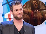 """EDITORIAL USE ONLY. NO MERCHANDISING. IN US EXCLUSIVE RATES APPLY\nMandatory Credit: Photo by Ken McKay/ITV/REX/Shutterstock (5621898af)\nChris Hemsworth\n'Good Morning Britain' TV show, London, Britain - 31 Mar 2016\n""""Thor'sday Challenge"""" - Ben and Chris go head to head on our GMB Hammer-striker to see who's strongest, 2014s Sexiest Man Alive and Thor himself joins us for a live studio chat about returning as Eric in the new film THE HUNTSMAN: WINTER'S WAR. Hes also about to star in the hotly anticipated Ghostbusters movie., Action star, Australian actor, THOR BLIMEY!\n"""