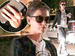 *EXCLUSIVE* Calabasas, CA - Katie Holmes wears her sunglasses at night for a low key solo dinner night in Calabasas.   AKM-GSI   April 1, 2016 To License These Photos, Please Contact : Steve Ginsburg (310) 505-8447 (323) 423-9397 steve@akmgsi.com sales@akmgsi.com or Maria Buda (917) 242-1505 mbuda@akmgsi.com ginsburgspalyinc@gmail.com