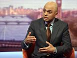 """LONDON, ENGLAND -  APRIL 03:   (NO SALE/NO ARCHIVE) In this handout image provided by the BBC,  Business Secretary Sajid Javid appears on The Andrew Marr Show on April 03, 2016 in London, England. The Business Secretary has stated that the government will do everything they can do keep Port Talbot open.  (Photo by Jeff Overs/BBC via Getty Images) Warning: Use of this copyright image is subject to Terms of Use of BBC Digital Picture Service.  In particular, this image may only be used during the publicity period for the purpose of publicising """"Andrew Marr Show"""" and provided the BBC is credited."""