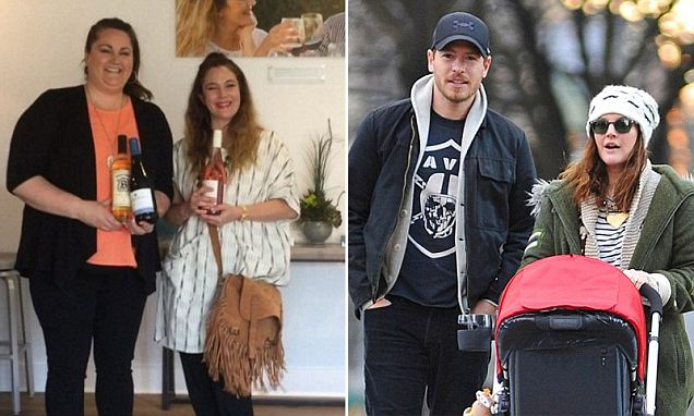 Drew Barrymore looks happy while promoting her rosé wine at event in Carmel