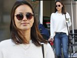 EXCLUSIVE: Jamie Chung grabs some morning Starbucks. Vancouver, Canada - Saturday April 2, 2016.  Photograph: © Kred, PacificCoastNews. Los Angeles Office: +1 310.822.0419 UK Office: +44 (0) 20 7421 6000 sales@pacificcoastnews.com FEE MUST BE AGREED PRIOR TO USAGE
