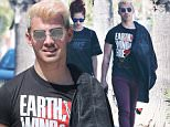 Exclusive... 52011398 Blonde-haired singer Joe Jonas is spotted leaving Sweet Butter Kitchen in Sherman Oaks, California after enjoying lunch with friends on April 2, 2016. Joe recently paid $3.7 million for a newly built farmhouse-style home in Sherman Oaks. FameFlynet, Inc - Beverly Hills, CA, USA - +1 (310) 505-9876