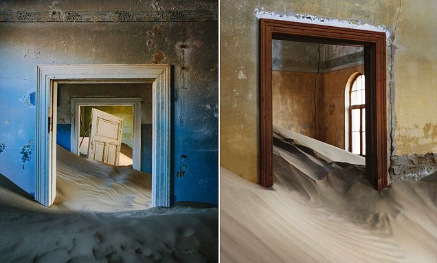 Eerie photographs of a house being reclaimed by desert sand capture the unstoppable march