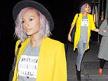Picture Shows: Alesha Dixon  April 02, 2016    British singer Alesha Dixon is spotted leaving Sexy Fish restaurant after dinner with friends in London, England, UK.