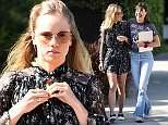 EXCLUSIVE: Suki Waterhouse and BFF Eva Dolezalova joke around with each other after enjoying a lunch at Zinque restaurant with friends in West Hollywood  Pictured: Suki Waterhouse Ref: SPL1256010  010416   EXCLUSIVE Picture by: Splash News  Splash News and Pictures Los Angeles: 310-821-2666 New York: 212-619-2666 London: 870-934-2666 photodesk@splashnews.com