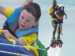 Picture Shows: Kai Wayne Rooney  March 31, 2016    Coleen Rooney is spotted on the beach in Barbados with her two sons. Coleen was seen going for a ride on the Jet Ski.    Non-Exclusive  WORLDWIDE RIGHTS    Pictures by : FameFlynet UK © 2016  Tel : +44 (0)20 3551 5049  Email : info@fameflynet.uk.com