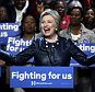 epa05236656 US Democratic presidential candidate Hillary Clinton speaks during a campaign event at the Apollo Theater in the Harlem section of New York City, New York, USA, 30 March 2016.  EPA/JASON SZENES