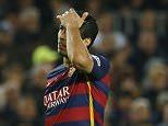 Football Soccer - FC Barcelona v Real Madrid - La Liga - Camp Nou, Barcelona - 2/4/16  Barcelona's Luis Suarez  Reuters / Albert Gea  Livepic  EDITORIAL USE ONLY.