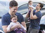 EXCLUSIVE Adam Garcia who shot to fame with his role in Coyote Ugly, arrives at the Ministry of Dance with his 7 month old daughter Arya and wife Nathalia where he is rehearsing for his starring role in 'Singing in the Rain that opens in Melbourne in May. Adam has also just been named as brand ambassador of Fiat Australia
