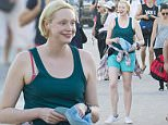 2 APRIL 2016 SYDNEY AUSTRALIA\\n\\nEXCLUSIVE PICTURES\\n\\nGwendoline Christie pictured walking along the corso at Bondi Beach after a long day of filming scene's for Top Of The Lake.