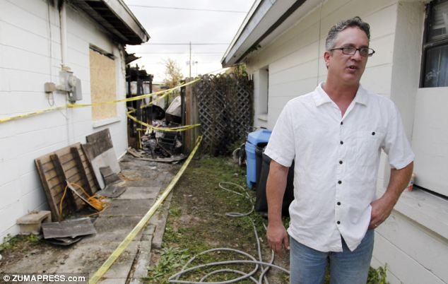 Dan Jensen was tasered by Pinellas Park police after he used a water hose to spray his home to prevent it from catching fire