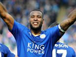 LEICESTER, ENGLAND - APRIL 03 : Wes Morgan of Leicester City celebrates after scoring to make it 1-0 during the Barclays Premier League match between Leicester City and Southampton at the King Power Stadium on April 03 , 2016 in Leicester, United Kingdom.  (Photo by Plumb Images/Leicester City FC via Getty Images) ***BESTPIX***
