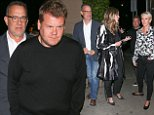 *EXCLUSIVE* Santa Monica, CA - Hollywood star Tom Hanks and wife Rita Wilson arrive for dinner with English funny man James Corden and Julia Carey at Giorgio Baldi.\nAKM-GSI    April 2, 2016\nTo License These Photos, Please Contact :\nSteve Ginsburg\n(310) 505-8447\n(323) 423-9397\nsteve@akmgsi.com\nsales@akmgsi.com\nor\nMaria Buda\n(917) 242-1505\nmbuda@akmgsi.com\nginsburgspalyinc@gmail.com