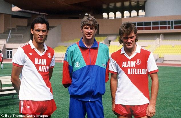 Glenn Hoddle (right) won the French league title with Monaco under Arsene Wenger in 1988
