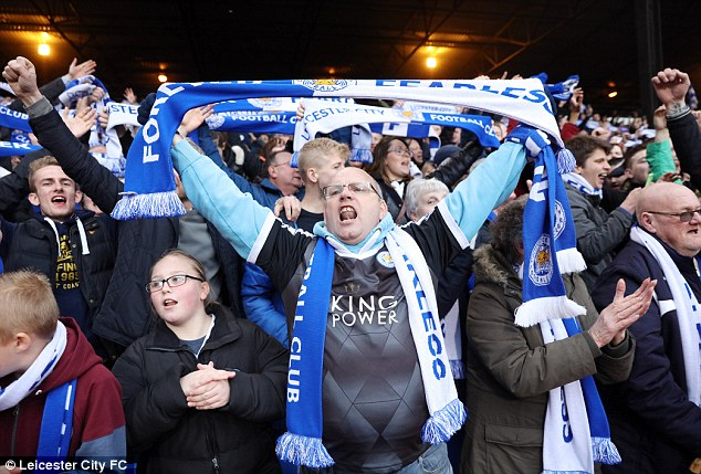 Leicester fans who dared to dream of glory look set to be rewarded with a Premier League title