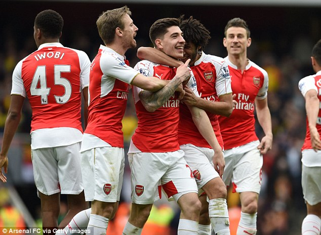 Arsenal kept their title hopes alive with a comprehensive victory over Watford at the Emirates