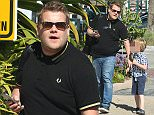 *EXCLUSIVE* Malibu, CA - English TV personality and actor James Corden was spotted taking his 5 year old son, Max Corden, for a little walk. The two held hands as they walked on the sidewalk to their destination. James multitasked as he was on his phone answering messages. \\nAKM-GSI     April 2, 2016\\nTo License These Photos, Please Contact :\\nSteve Ginsburg\\n(310) 505-8447\\n(323) 423-9397\\nsteve@akmgsi.com\\nsales@akmgsi.com\\nor\\nMaria Buda\\n(917) 242-1505\\nmbuda@akmgsi.com\\nginsburgspalyinc@gmail.com