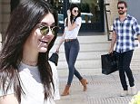 Exclusive... 52012185 Reality stars Scott Disick and Kendall Jenner out shopping at Barneys New York in Beverly Hills, California on April 3, 2016. On April 1st Scott's ex Kourtney Kardashian posted a Snapchat video of Scott and Kendall sleeping together in the same bed. Kourtney was extremely upset and told Scott to leave the house, as he walked out the door he turned around and said 'April Fools'. FameFlynet, Inc - Beverly Hills, CA, USA - +1 (310) 505-9876