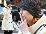 Mandatory Credit: Photo by Startraks Photo/REX/Shutterstock (5622971f)\nClaire Danes\nClaire Danes out and about, New York, America - 03 Apr 2016\nClaire Danes Smoking While Out in Lower Manhattan\n