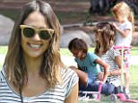 eURN: AD*201838443  Headline: Jessica Alba takes her little ones for a playdate in the park Caption: Los Angeles, CA - Jessica Alba visits the park with her daughters Honor and Haven. The mother of two is wearing skinny jeans and a striped tee paired with velcro sneakers and a cross body bag. Jessica chats with one of the other moms while she eats a snack. This kids play on scooters while Jessica relaxes in the grass.    AKM-GSI       April 3, 2016 To License These Photos, Please Contact : Steve Ginsburg (310) 505-8447 (323) 423-9397 steve@akmgsi.com sales@akmgsi.com or Maria Buda (917) 242-1505 mbuda@akmgsi.com ginsburgspalyinc@gmail.com Photographer: EVGA  Loaded on 04/04/2016 at 00:57 Copyright:  Provider: EVGA/AKM-GSI  Properties: RGB JPEG Image (21603K 1477K 14.6:1) 2217w x 3326h at 200 x 200 dpi  Routing: DM News : GeneralFeed (Miscellaneous) DM Showbiz : SHOWBIZ (Miscellaneous) DM Online : Online Previews (Miscellaneous), CMS Out (Miscellaneous)  Parking: