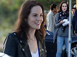 EXCLUSIVE: **STRICTLY NO WEB UNTIL 20.00GMT APRIL 3RD 2016*** Michelle Dockery gets to work on new show Good Behavior following the death of her fiance last year. The Downton Abbey actress rehearsed early-morning scenes with Argentine co-star Juan Diego Botto at a gas station before heading to hair and makeup.\n\nPictured: Michelle Dockery and Juan Diego Botto\nRef: SPL1252153  300316   EXCLUSIVE\nPicture by: Splash News\n\nSplash News and Pictures\nLos Angeles:310-821-2666\nNew York:212-619-2666\nLondon:870-934-2666\nphotodesk@splashnews.com\n
