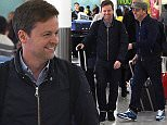 EXCLUSIVE: Ant McPartlin And Declan Donnelly are seen arriving back at heathrow airport  Pictured: Ant McPartlin , Declan Donnelly Ref: SPL1256677  030416   EXCLUSIVE Picture by: Neil Warner / Splash News  Splash News and Pictures Los Angeles: 310-821-2666 New York: 212-619-2666 London: 870-934-2666 photodesk@splashnews.com